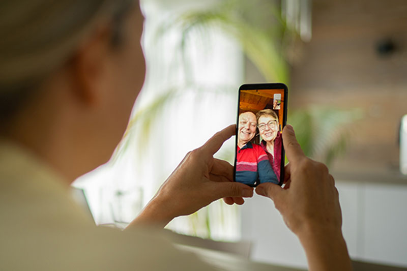 video call with senior parents